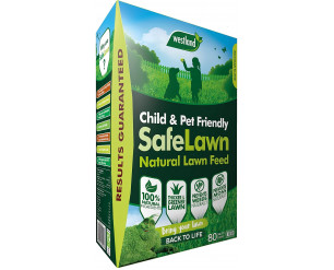 Westland SafeLawn Child and Pet Friendly Natural Lawn Feed 80 m2, Green, 2.8 kg