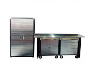 Seville 4 Piece Garage Storage System - Stainless Steel