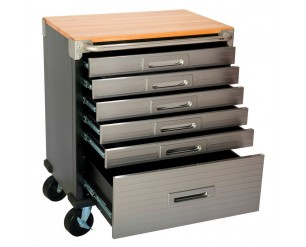 Seville 6 Drawer Rolling Cabinet Workbench