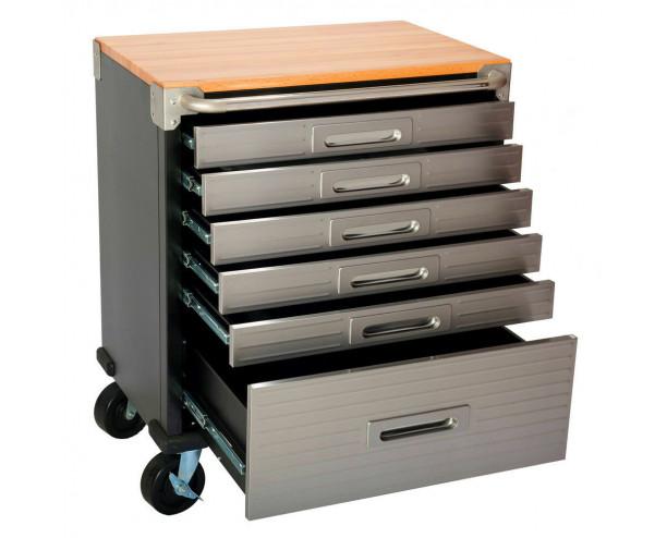 Seville 6 Drawer Rolling Cabinet Workbench