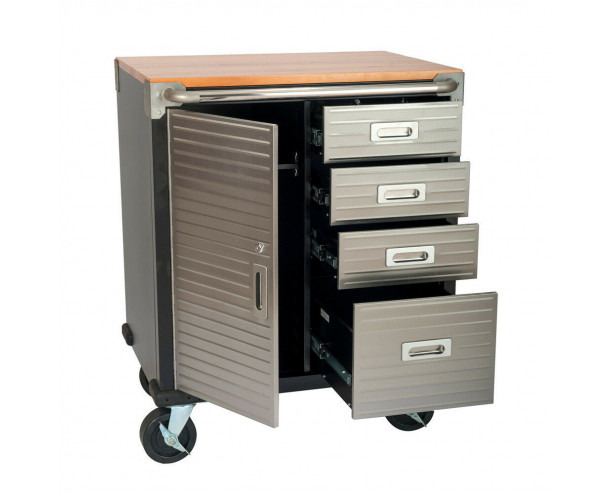 Seville Garage Storage Cabinet 4 Drawer Side Cupboard