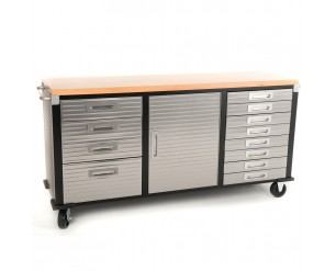 Seville Classics Rolling Workbench 12 Drawer storage