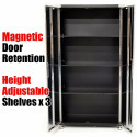 Seville Classics Cabinet 6ft Tall x 3ft Wide Steel Heavy Duty Garage Storage
