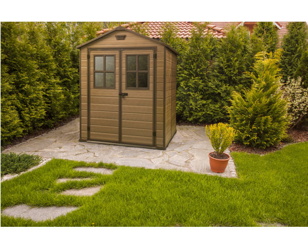 Keter Plastic Garden Shed Scala 6 x 8ft