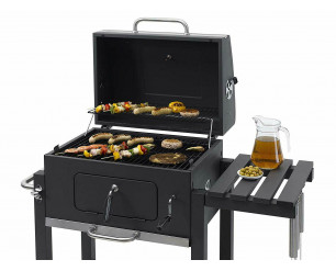 Toronto Click BBQ Barbecue Charcoal Tepro Trolley Anthracite/Stainless Steel