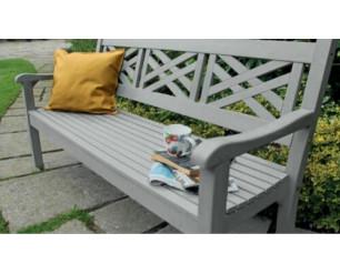 Winawood Speyside Garden Benches - 3 Seat Bench - Stone Grey