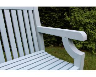 Winawood Sandwick Garden Benches - 3 Seat Bench - Powder Blue