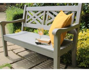 Winawood Speyside Garden Benches -2 Seat Bench - Stone Grey