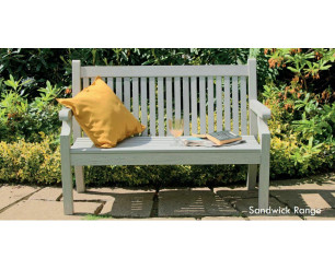Winawood Sandwick Garden Benches - 2 Seat Bench - Stone Grey