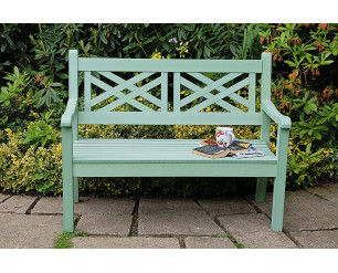 Winawood Speyside Garden Benches - 2 Seat Bench - Duck Egg Green