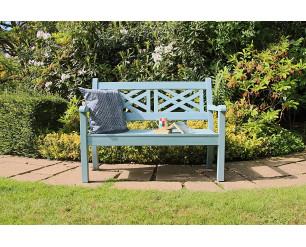 Winawood Speyside Garden Benches - 2 Seat Bench - Powder Blue