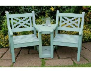 Winawood Speyside Garden Benches -Love / Conversation Seat  - Powder Blue