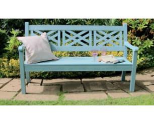 Winawood Speyside Garden Benches - 3 Seat Bench - Powder Blue