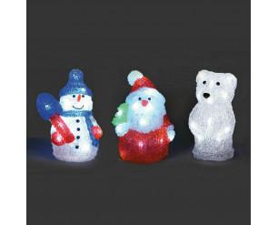 Acrylic LED Christmas Figure - 17cm Bear